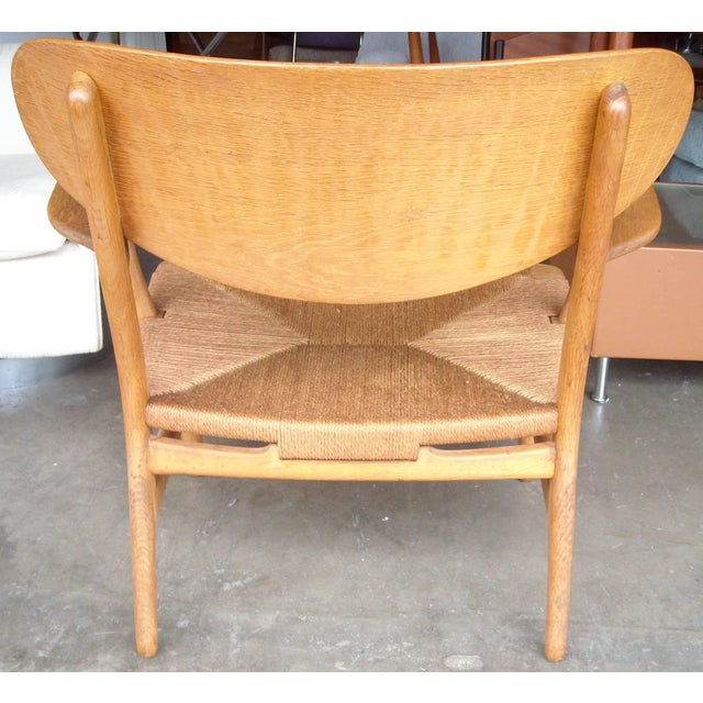 1950s 1950s VintageCarl Hansen for Hans Wegner Ch22 Armchair For Sale - Image 5 of 7