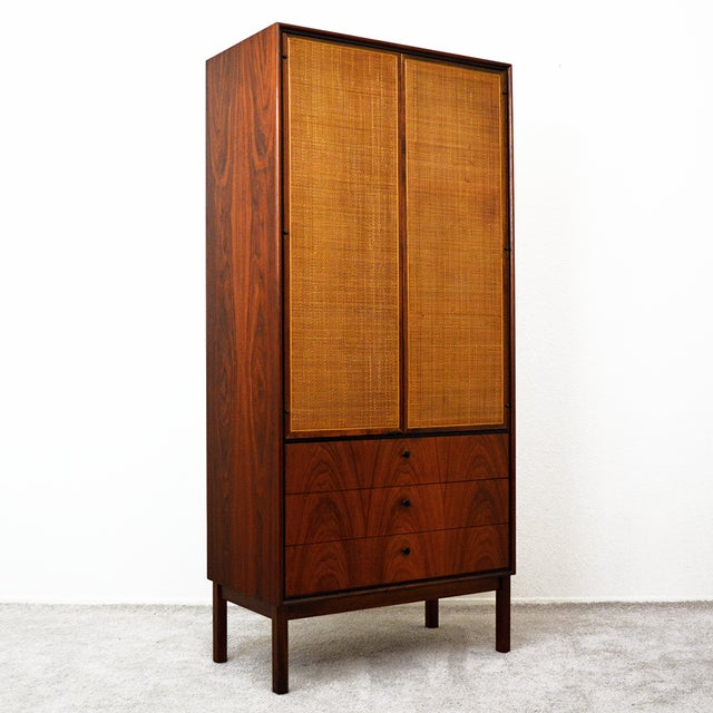 Mid Century Jack Cartwright for Founder's Furniture Walnut Armoire For Sale - Image 13 of 13