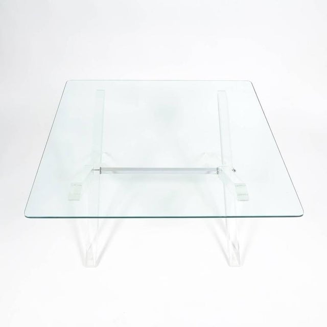 Lucite X-Frame Coffee Table, circa 1970 For Sale - Image 4 of 7
