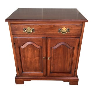 Henkel Harris Wild Cherry Chippendale Style Single Drawer Nightstand For Sale