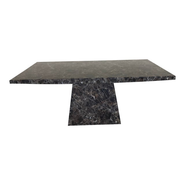 Maurice Villency Style Marble Dining Table For Sale