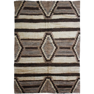 """Hand Knotted Navajo Style Rug - 9'10"""" x 8'3"""" For Sale"""