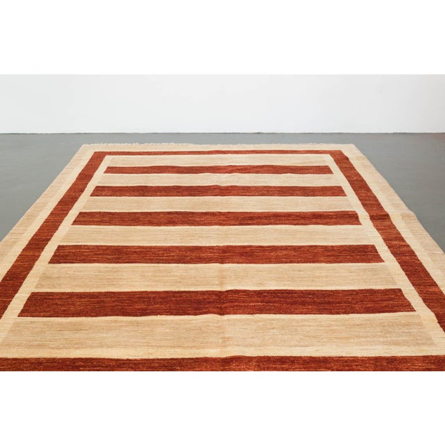 Pakistani Ziegler Hand Knotted Wool Rug - 6′5″ × 9′5″ For Sale In Seattle - Image 6 of 9
