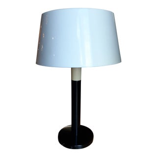 Vintage Mid-Century Modern Lightolier Table Lamp With Diffuser Shade by Gerald Thurston For Sale