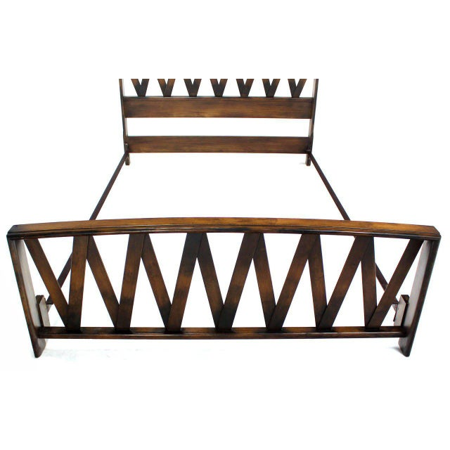 Paul Frankl Lattice Full Bed Frame For Sale - Image 9 of 9