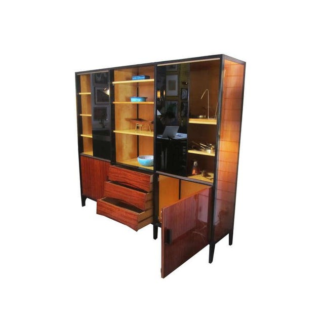Mid century french cabinet in mahogany by meubles for Meuble mid century montreal