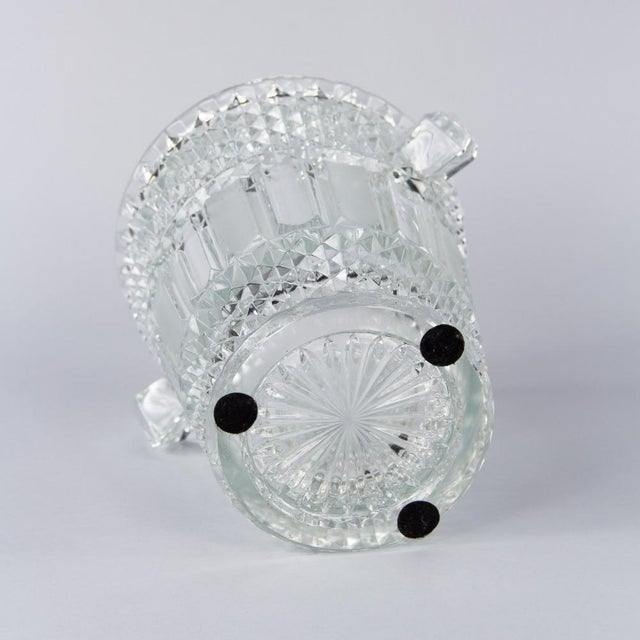 French Cut Crystal Champagne Bucket, 20th Century - Image 10 of 11