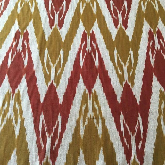 Handwoven Uzbek Ikat Fabric - 3 Yards - Image 1 of 10