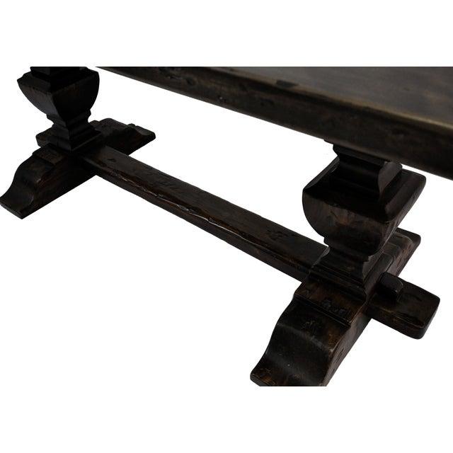 French Oak Trestle Dining Table - Image 9 of 10