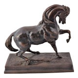 "Image of 19th Century French Bronze Horse Sculpture Signed ""Barye"" For Sale"