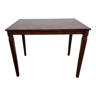 Early American Butcher Block Counter Height Bar Dining Table For Sale