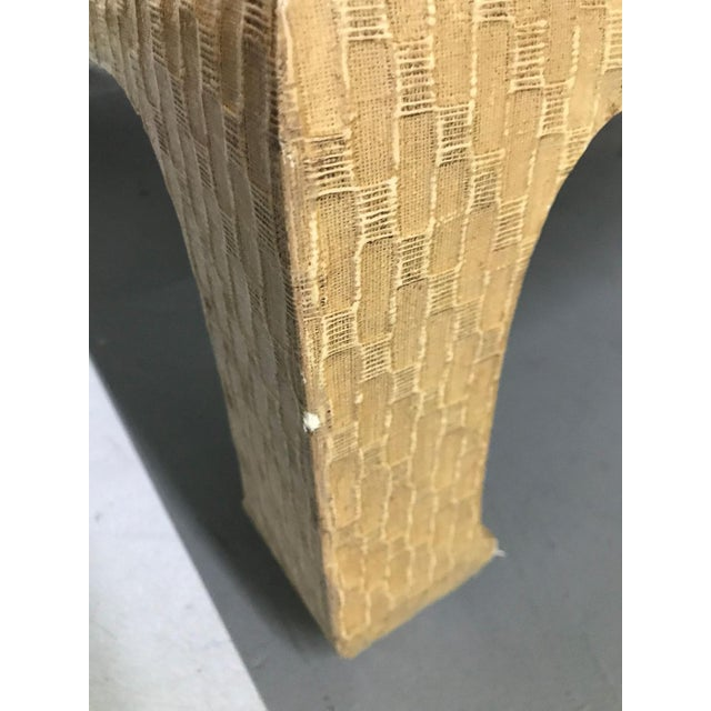 Vintage 1980s Baker Raffia-Covered Asian-Inspired Occasional Table For Sale In Atlanta - Image 6 of 12