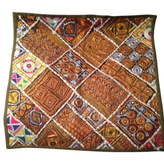 Large Stunning Global Chic Pillow Cover For Sale
