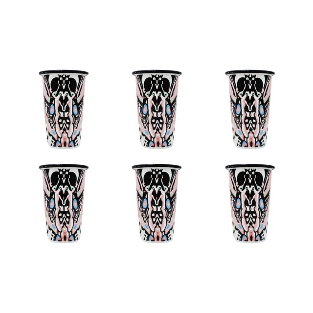2020s The Harlequin Handmade Tumblers Set of 6 For Sale - Image 5 of 5