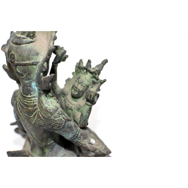 Bronze Tibetan Couple Statue Vajrasattva Yab Yum Early 19th Century For Sale - Image 4 of 13