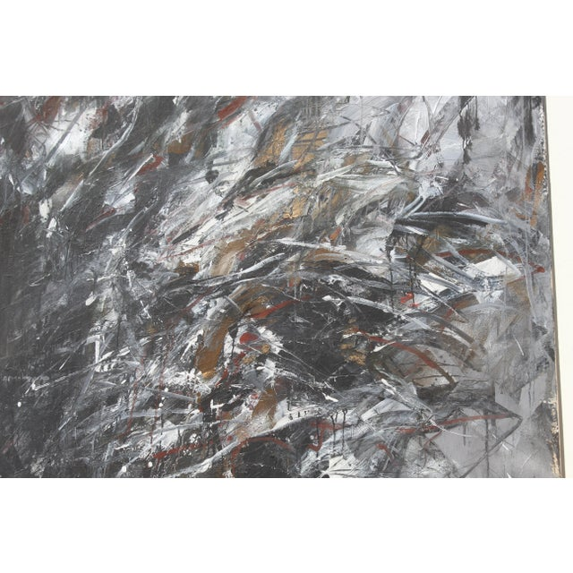 1980s Contemporary Abstract Painting by Dehais For Sale - Image 5 of 8