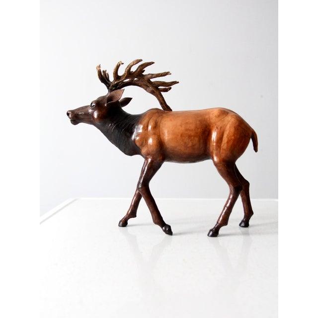 Vintage Leather Reindeer Sculpture For Sale - Image 10 of 10
