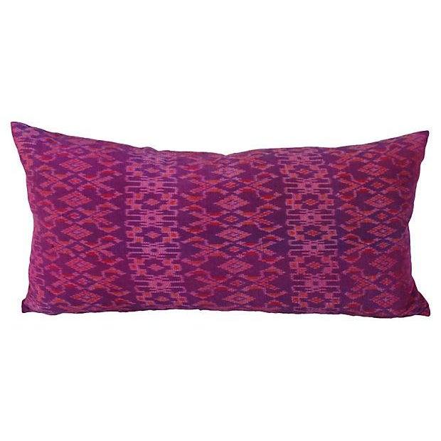 Thai Silk Ikat Pillows - Pair - Image 2 of 4
