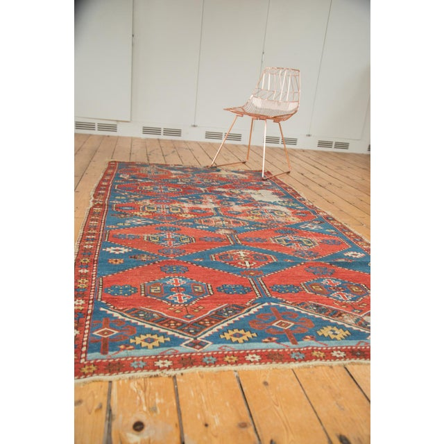"Blue Antique Shirvan Rug - 4'4"" x 7'8"" For Sale - Image 8 of 11"