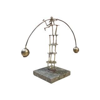 Mid-Century Modern Miniature Kinetic Balancing Artist Sculpture