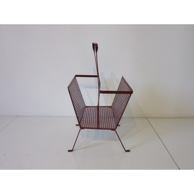 Mid-Century Modern Mathieu Mategot Magazine Rack Made in France For Sale - Image 3 of 9