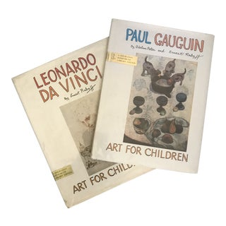 "1974 ""Art for Children"" Da Vinci & Gauguin First Edition Books - a Pair For Sale"