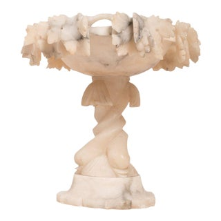 19th Century Italian Alabaster Tazza Bowl For Sale