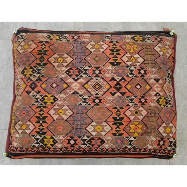 Turkish Hand Woven Kilim Floor Cushion Cover - 24″ X 30″ | Chairish