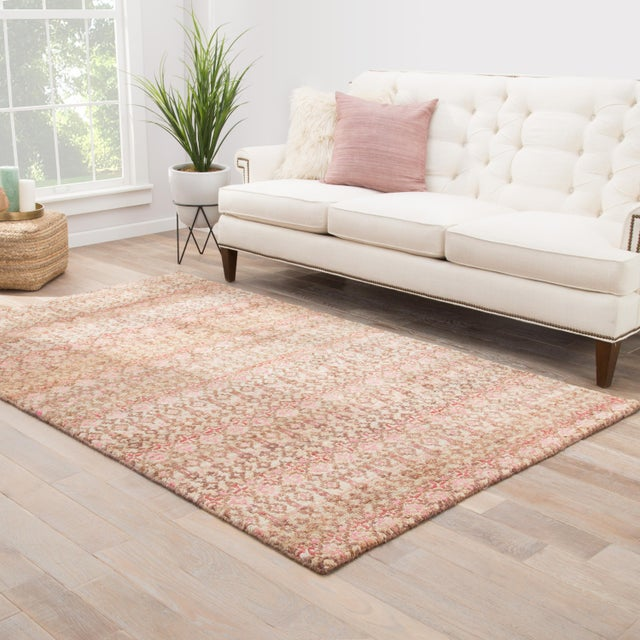 2010s Jaipur Living Cane Hand-Knotted Geometric Brown/ Red Area Rug - 5′ × 8′ For Sale - Image 5 of 6