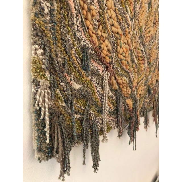 """Canto Al Fuego"" Textile Art For Sale - Image 4 of 9"