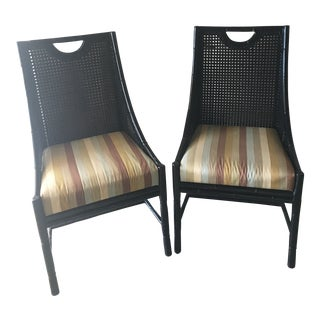 1980s Vintage Palecek Chairs - a Pair For Sale