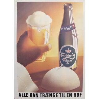 Original 1980's Danish Design Poster, Pope's Drink of Choice
