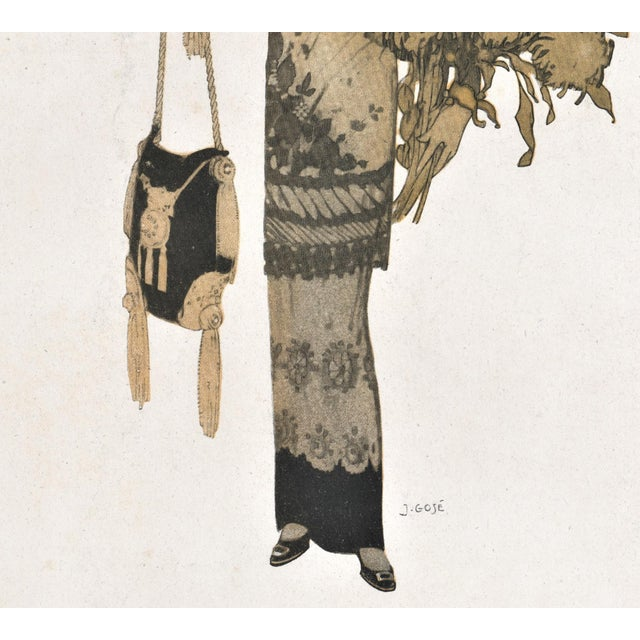 French Art Deco Women's Fashion Print For Sale - Image 4 of 4