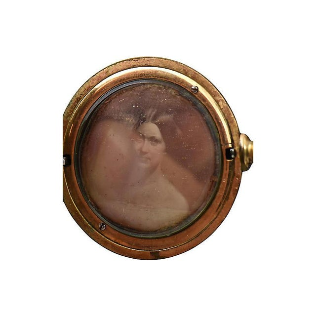 Traditional 19th Century Victorian Daguerreotype Hair Locket For Sale - Image 3 of 6