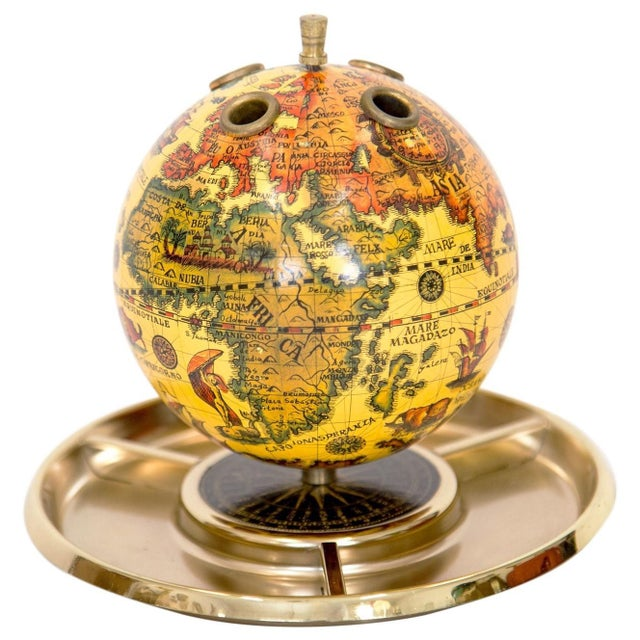 Mid 20th Century Old World Globe Desk Organizer For Sale - Image 5 of 5