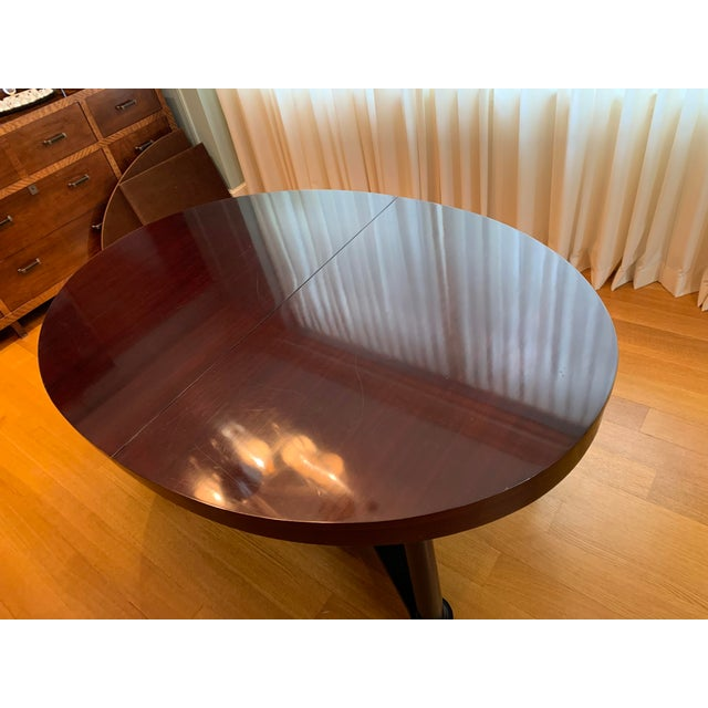 Barbara Barry Barbara Barry for Baker Mahogany Ambassador Oval Dining Table For Sale - Image 4 of 13