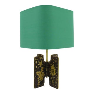 Brutalist Table Lamp in Brass, Circa 1960s For Sale