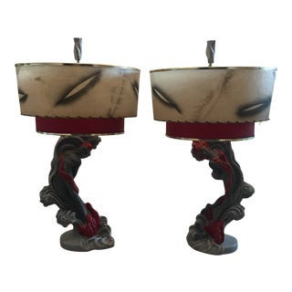 Sea Nymphs Table Lamps by Reglor of California - A Pair