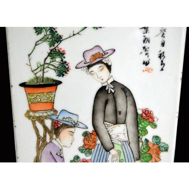Antique Hand-Painted Porcelain Vase with Scenes from 19th Century, China For Sale - Image 10 of 11
