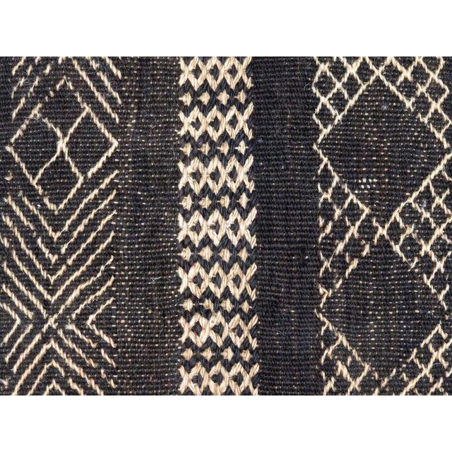 Boho Chic Vintage Black Moroccan Pouf For Sale - Image 3 of 11