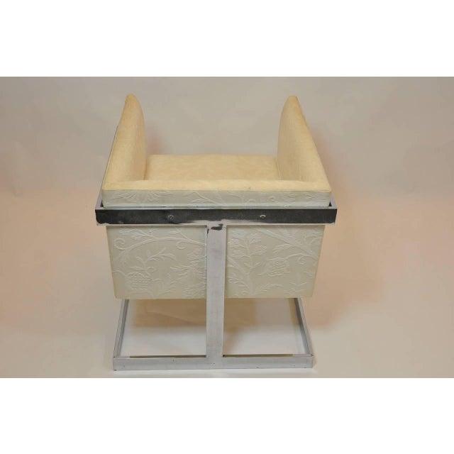 Milo Baughman Pair of Milo Baughman Petit Cube Chairs For Sale - Image 4 of 6