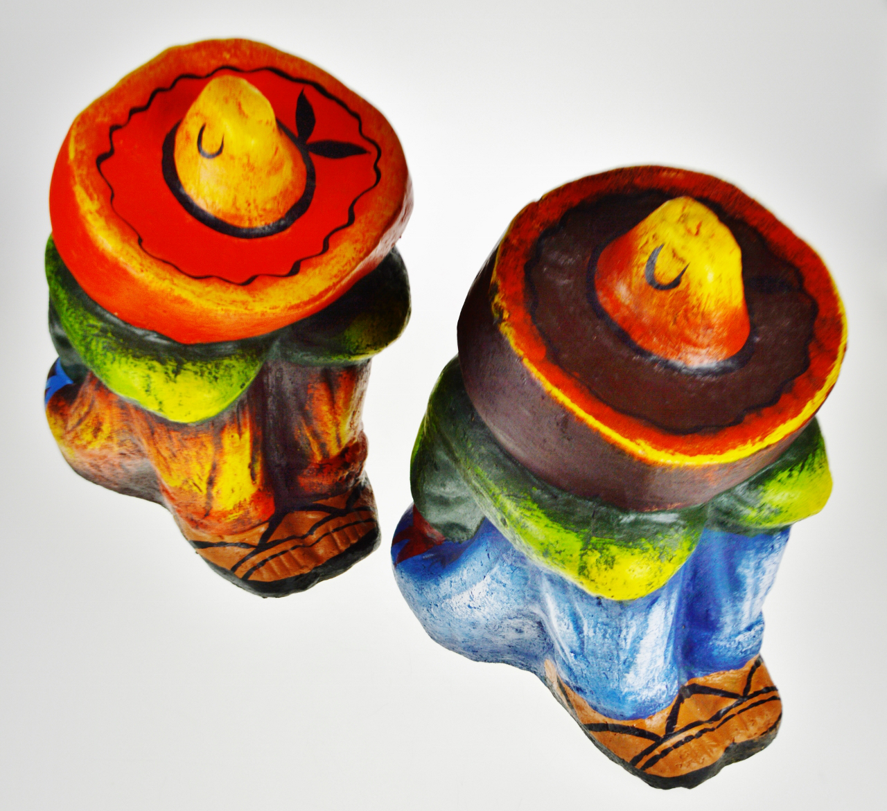 Vintage Ceramic Sleeping Mexican Garden Statues   A Pair   Image 9 Of 13