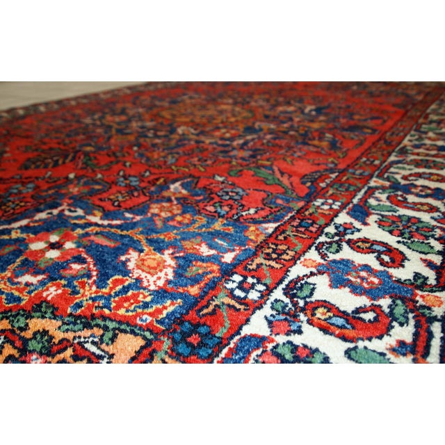 Islamic 1970s Hand Made Vintage Persian Mashad Rug - 4′7″ × 6′4″ For Sale - Image 3 of 10