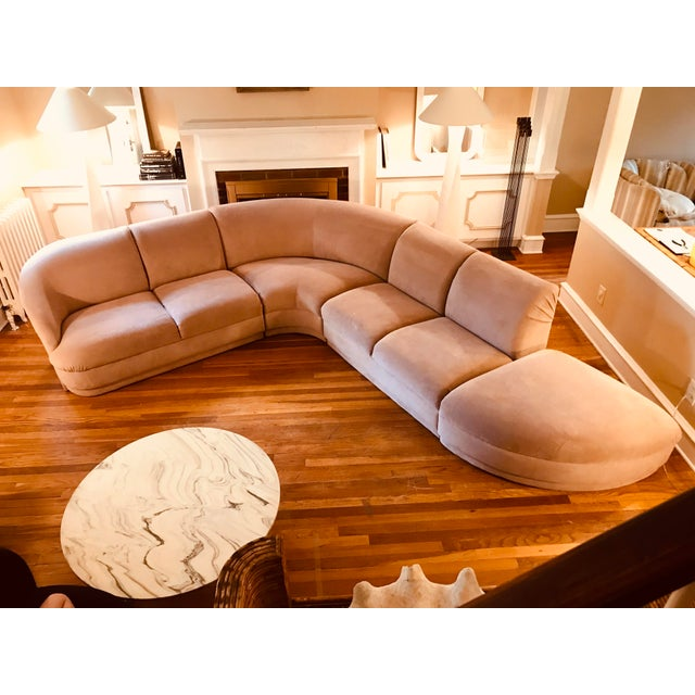 Blush Serpentine Sectional Sofa by Vladimir Kagan for Weiman For Sale - Image 12 of 12