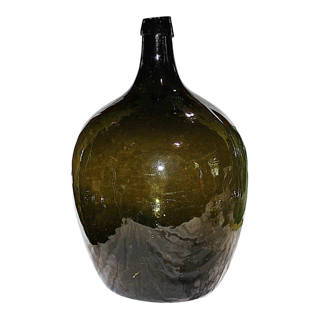 Green Demijohn Blown Bottle - Image 1 of 7