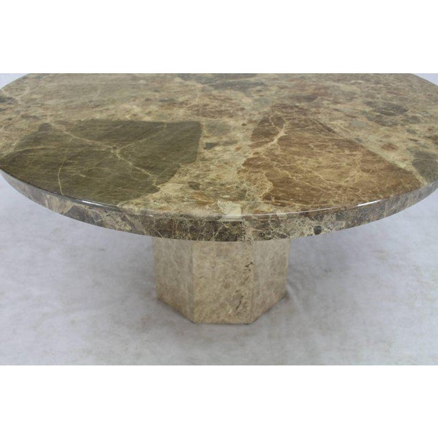 Mid 20th Century Mid-Century Modern Round Marble Dining Table For Sale - Image 5 of 9