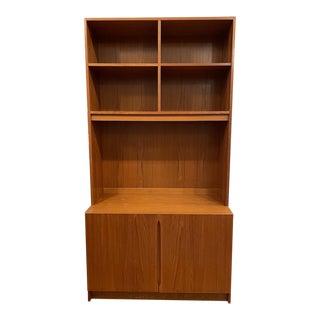 Vintage Danish Teak Bookcase/Media Cabinet For Sale