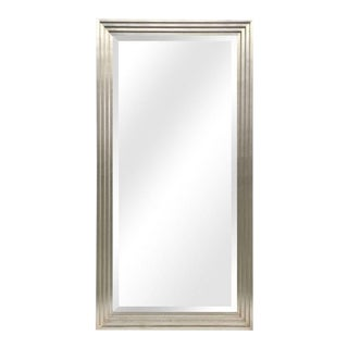 Arnaud Silver Wood Frame Full Length Leaner Mirror For Sale