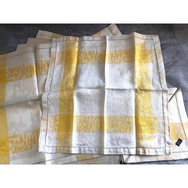 Vintage Damask Linen Napkins - Set of 12 For Sale - Image 9 of 13