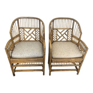 1970s Vintage Brighton Pavilion Chairs- A Pair For Sale